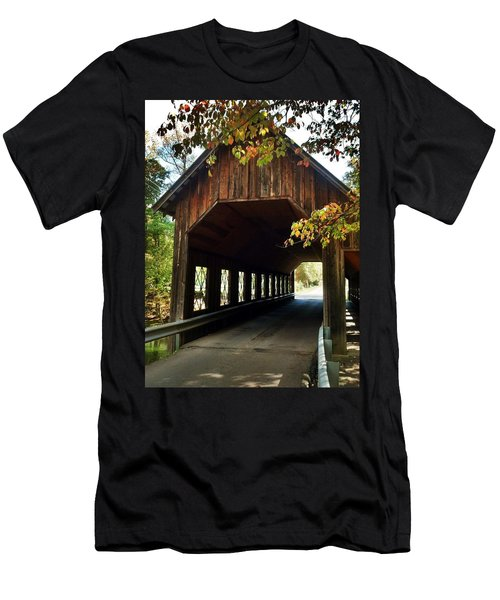 Men's T-Shirt (Slim Fit) featuring the photograph Tennesse Covered Bridge by Janice Spivey