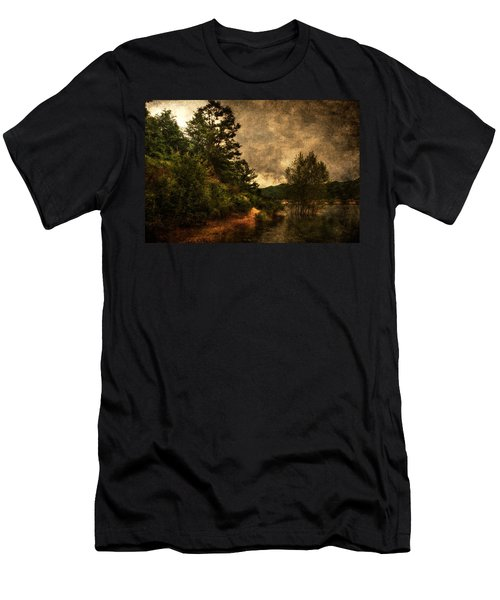 Textured Lake Men's T-Shirt (Athletic Fit)
