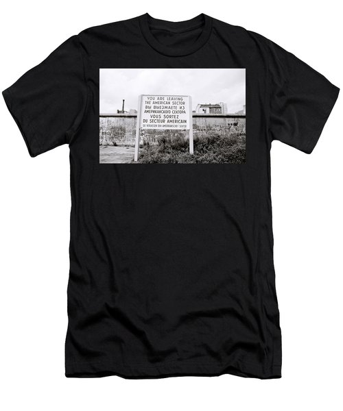Berlin Wall American Sector Men's T-Shirt (Athletic Fit)