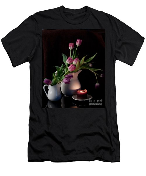 Men's T-Shirt (Slim Fit) featuring the photograph The Beauty Of Tulips by Sherry Hallemeier