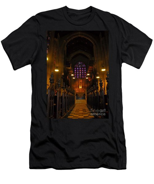 Men's T-Shirt (Slim Fit) featuring the photograph The Chapel At Valley Forge Park by Cindy Manero