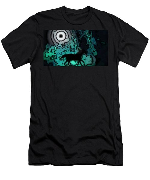 Men's T-Shirt (Slim Fit) featuring the photograph The Eclipsed Horse by Jessica Shelton
