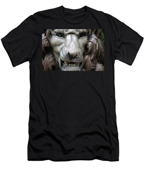 Men's T-Shirt (Slim Fit) featuring the photograph The Fierce Lion  by Kathy  White