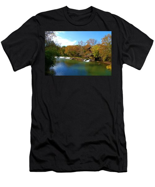 Men's T-Shirt (Slim Fit) featuring the photograph The Grist Big River by Peggy Franz