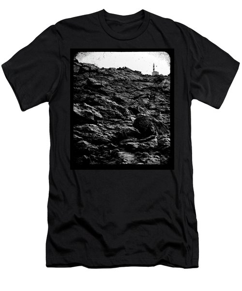 Men's T-Shirt (Slim Fit) featuring the photograph The Lighthouse1 by Pedro Cardona