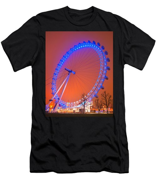 Men's T-Shirt (Slim Fit) featuring the photograph The London Eye by Luciano Mortula