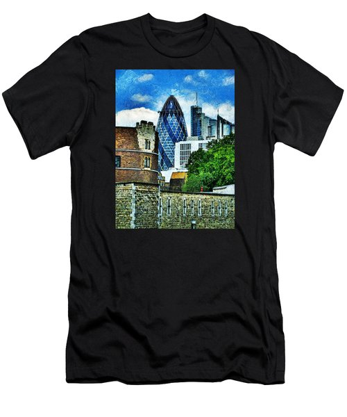 The London Gherkin  Men's T-Shirt (Slim Fit) by Steve Taylor