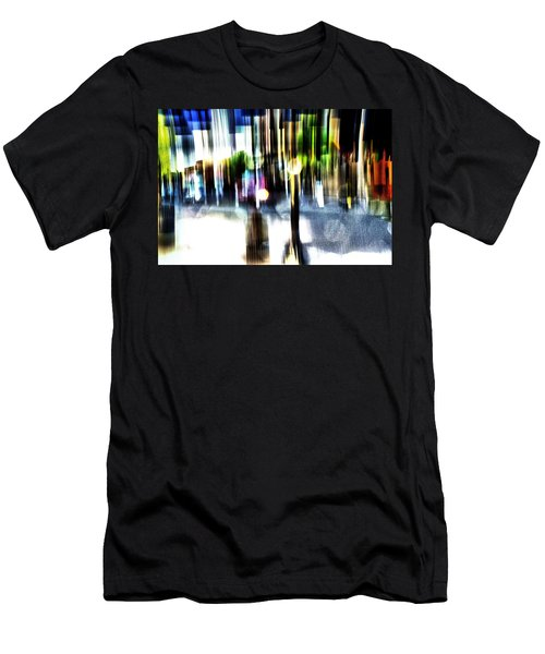 Men's T-Shirt (Slim Fit) featuring the mixed media The Man In The Door by Terence Morrissey