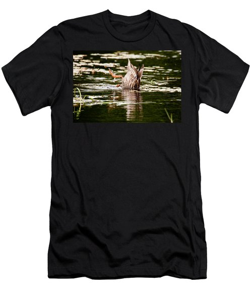 Men's T-Shirt (Slim Fit) featuring the photograph The Meaning Of Duck by Brent L Ander