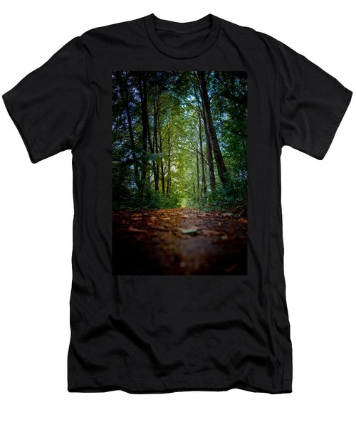 The Pathway In The Forest Men's T-Shirt (Athletic Fit)