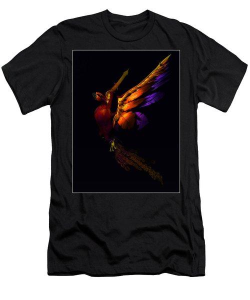 Men's T-Shirt (Slim Fit) featuring the digital art The Phoenix Rising... by Tim Fillingim