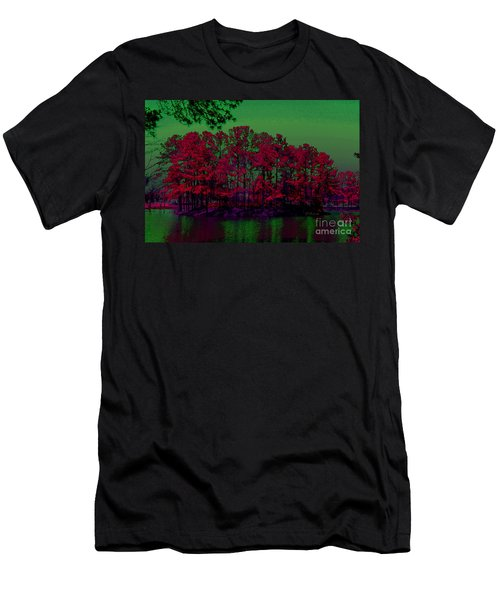 Men's T-Shirt (Athletic Fit) featuring the photograph The Red Forest by Donna Bentley