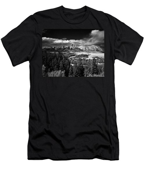 The Tetons Men's T-Shirt (Slim Fit) by Larry Carr