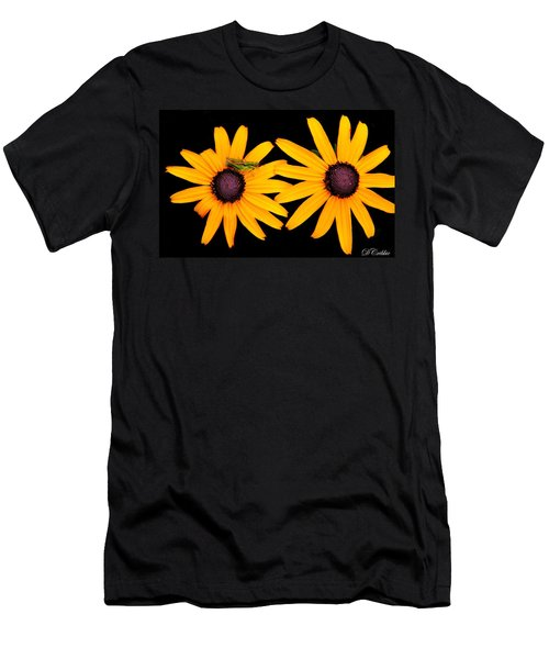 Men's T-Shirt (Slim Fit) featuring the photograph The Yellow Rudbeckia by Davandra Cribbie