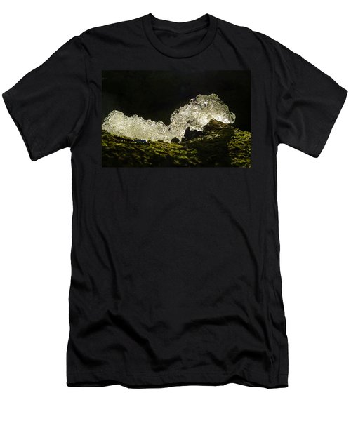 Men's T-Shirt (Slim Fit) featuring the photograph This Is A Very Hungry Cold Caterpillar  by Steve Taylor