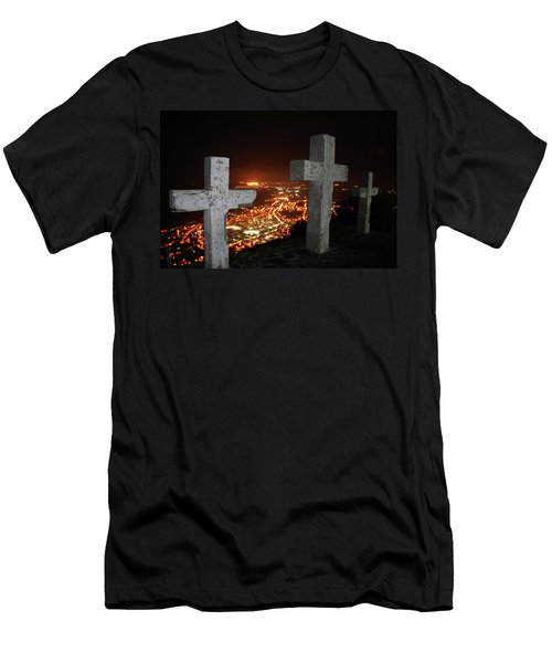 Three Crosses Men's T-Shirt (Athletic Fit)