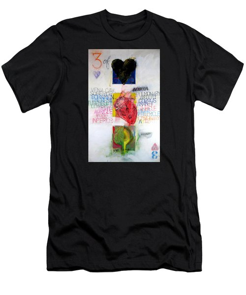 Three Of Hearts 32-52 Men's T-Shirt (Athletic Fit)