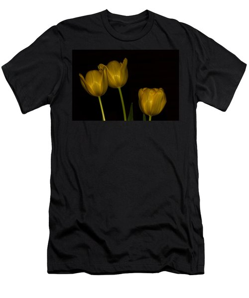 Men's T-Shirt (Slim Fit) featuring the photograph Three Tulips by Ed Gleichman