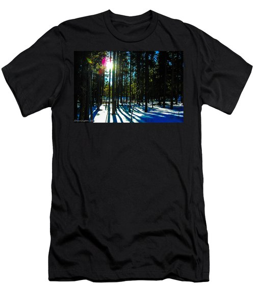 Men's T-Shirt (Slim Fit) featuring the photograph Through The Trees by Shannon Harrington