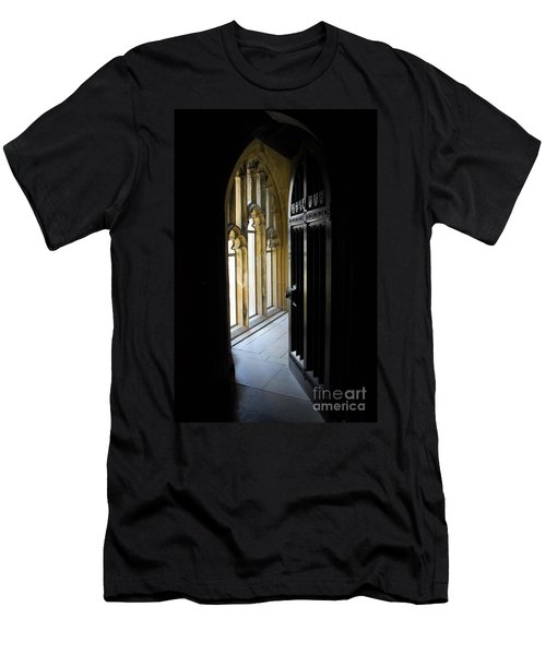 Men's T-Shirt (Slim Fit) featuring the photograph Thru The Chapel Door by Cindy Manero