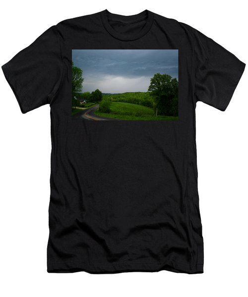 Men's T-Shirt (Slim Fit) featuring the photograph Thunderstorm by Kathryn Meyer
