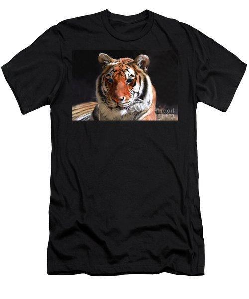 Tiger Blue Eyes Men's T-Shirt (Athletic Fit)