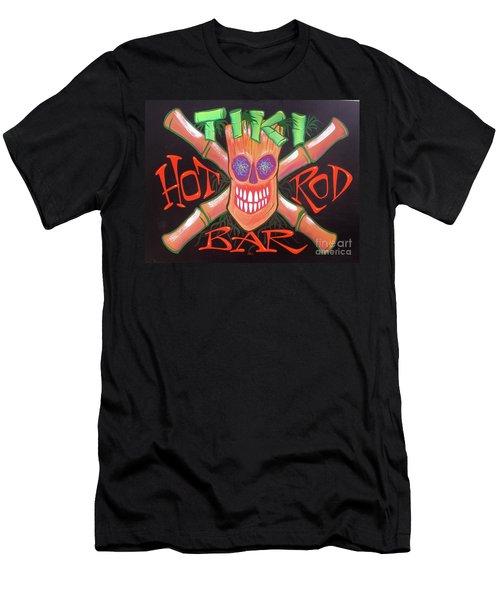 Tiki Hot Rod Bar Men's T-Shirt (Athletic Fit)