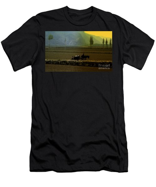 Men's T-Shirt (Slim Fit) featuring the photograph 'til The Day Is Done by Lydia Holly