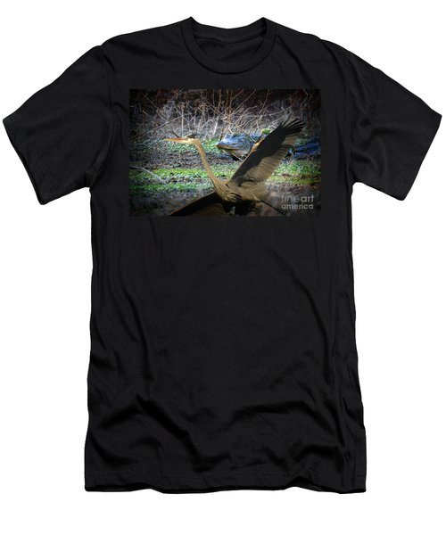 Men's T-Shirt (Slim Fit) featuring the photograph Time To Leave by Dan Friend