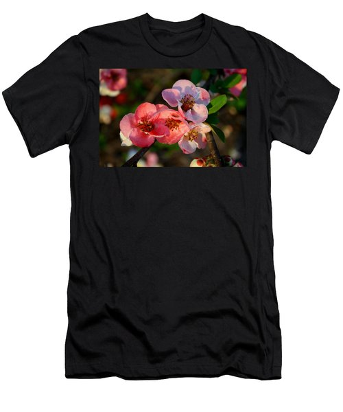 Men's T-Shirt (Slim Fit) featuring the photograph Toyo Nishiki Quince by Kathryn Meyer