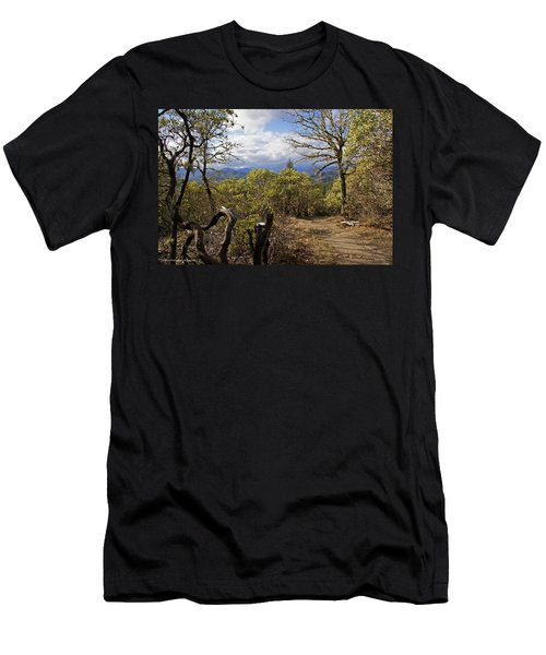 Trail At Cathedral Hills Men's T-Shirt (Slim Fit) by Mick Anderson