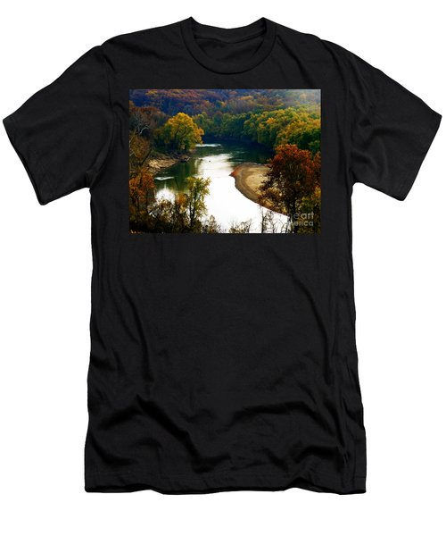Men's T-Shirt (Slim Fit) featuring the photograph Tranquil View by Peggy Franz