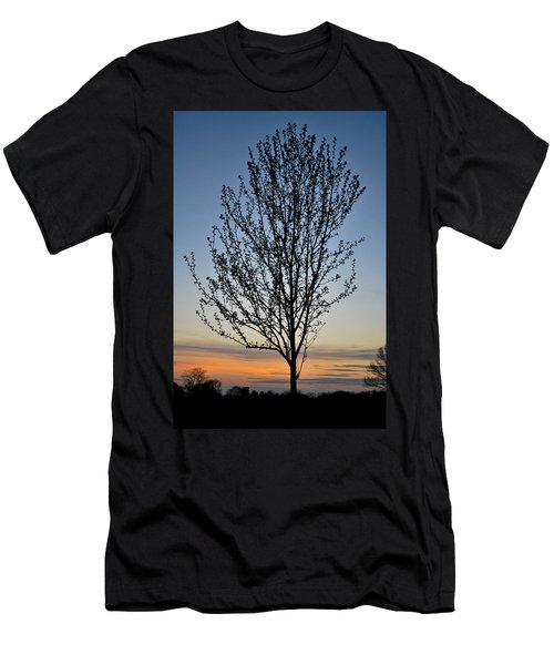 Tree At Sunset Men's T-Shirt (Athletic Fit)