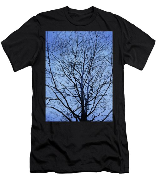Men's T-Shirt (Athletic Fit) featuring the painting Tree In Winter by Andrew King