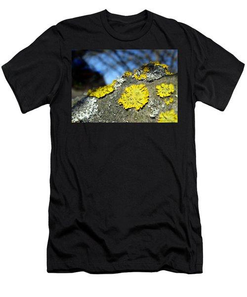 Men's T-Shirt (Athletic Fit) featuring the photograph Tree Lichen by Ausra Huntington nee Paulauskaite