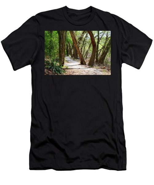 Men's T-Shirt (Slim Fit) featuring the photograph Trestle Walk by Kathryn Meyer