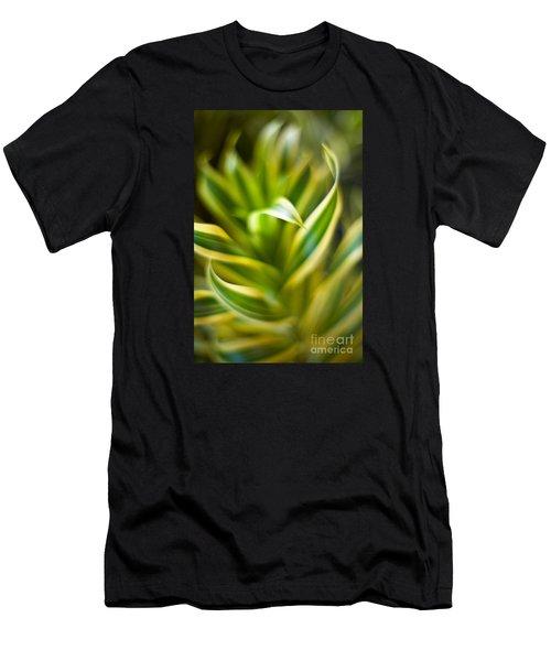 Tropical Swirl Men's T-Shirt (Athletic Fit)