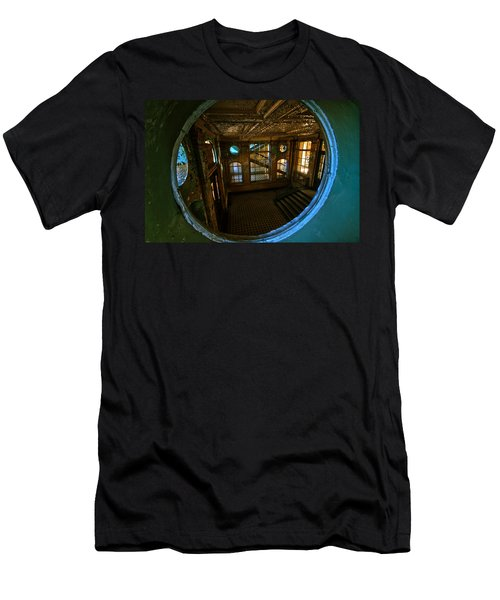 Trough The Round Window Men's T-Shirt (Slim Fit) by Nathan Wright