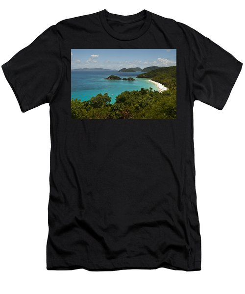 Trunk Bay 1 Men's T-Shirt (Athletic Fit)
