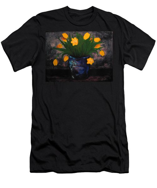 Tulips In Blue Men's T-Shirt (Athletic Fit)