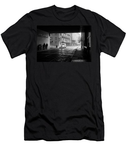 Men's T-Shirt (Slim Fit) featuring the photograph Tunnel I by Lynn Palmer