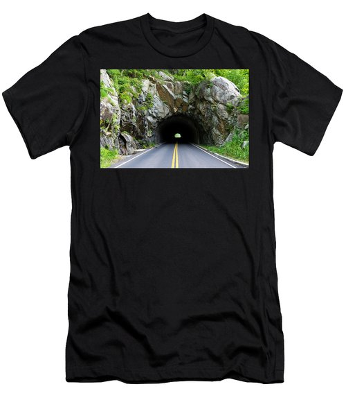 Tunnel On A Lonely Road Men's T-Shirt (Athletic Fit)
