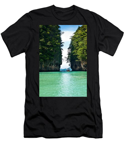 Turquoise Lagoon In Thailand Men's T-Shirt (Athletic Fit)