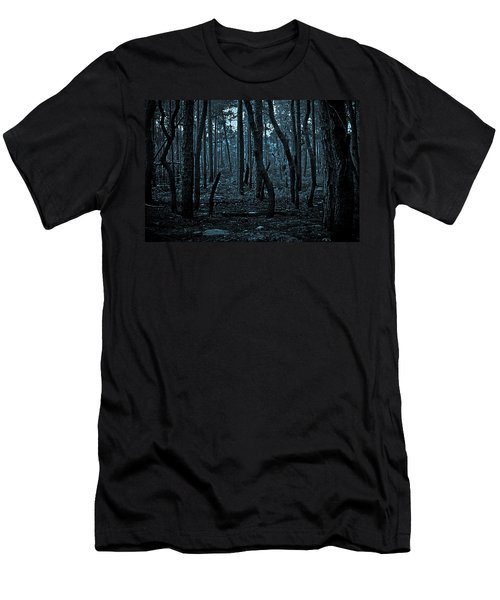 Men's T-Shirt (Slim Fit) featuring the photograph Twilight In The Smouldering Forest by DigiArt Diaries by Vicky B Fuller