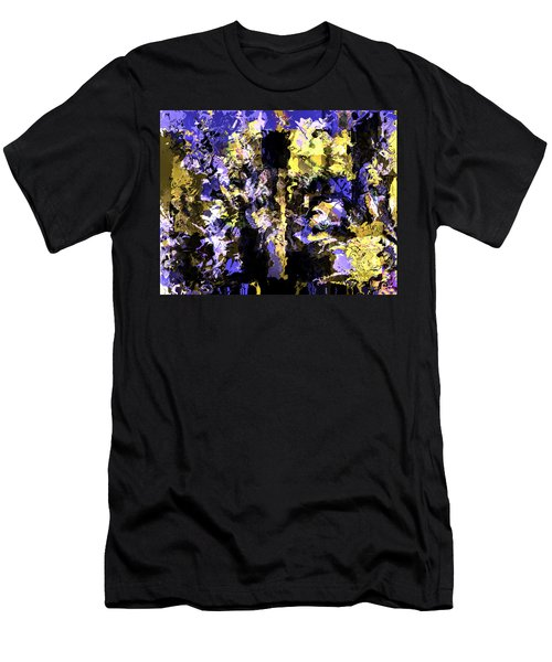 Men's T-Shirt (Slim Fit) featuring the mixed media Untitled Blue by Terence Morrissey