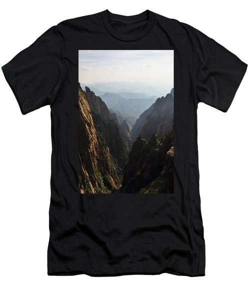 Valley In Huangshan Men's T-Shirt (Athletic Fit)