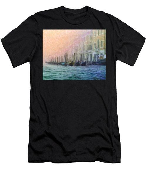 Venetian Gondolas Men's T-Shirt (Athletic Fit)