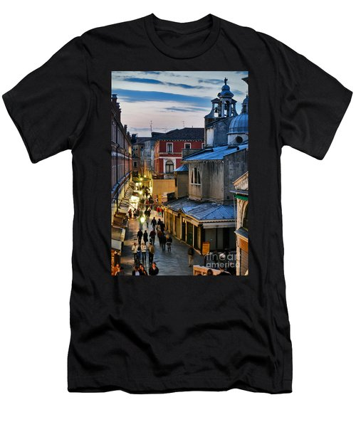 Venice From Ponte Di Rialto Men's T-Shirt (Athletic Fit)