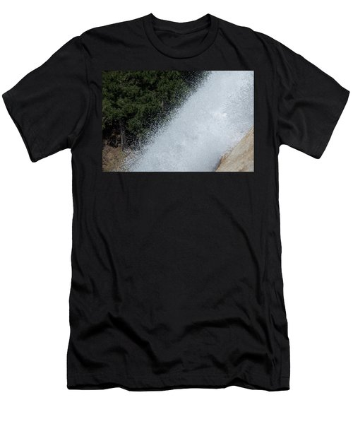 Vernal Falls On The Mist Trail At Yosemite Np Men's T-Shirt (Athletic Fit)