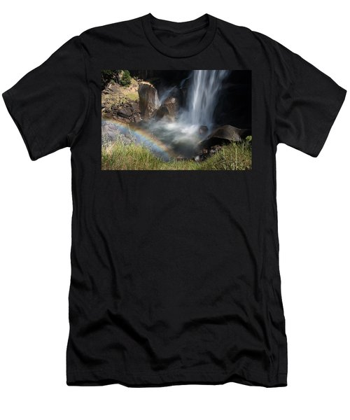 Vernal Falls Rainbow On Mist Trail Yosemite Np Men's T-Shirt (Athletic Fit)